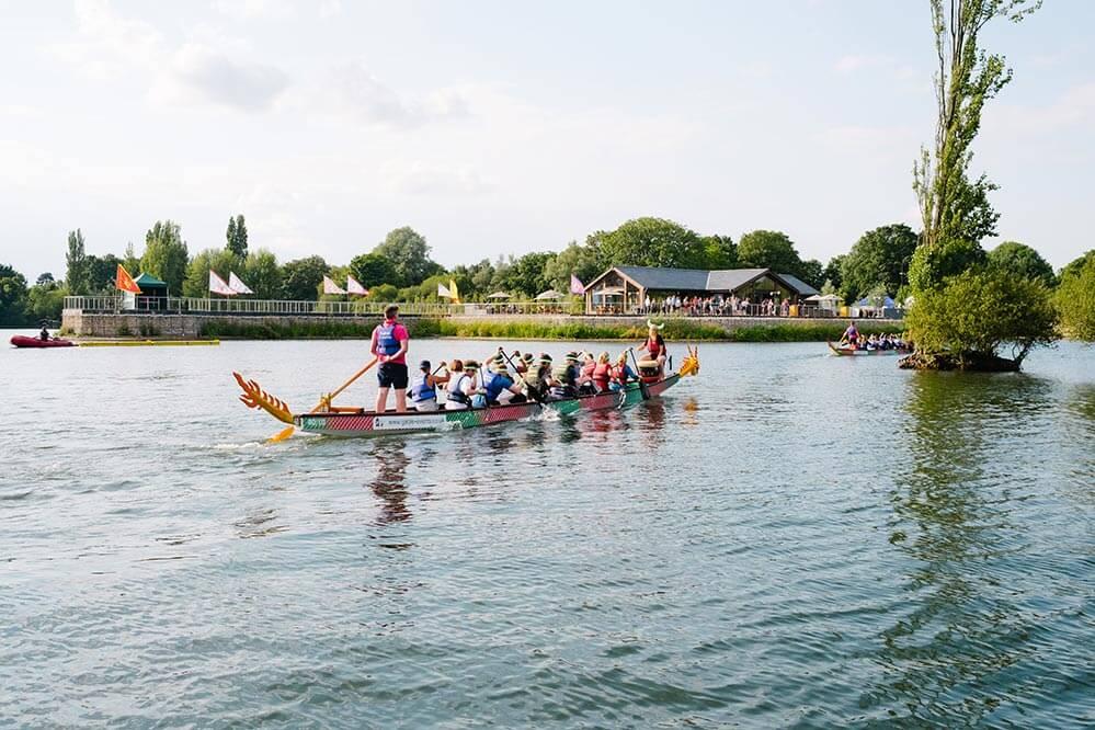rowing at amber lakes, team building venues