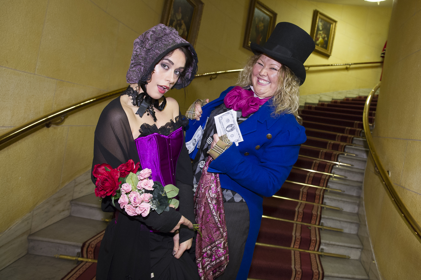 Dickensian theme festive party