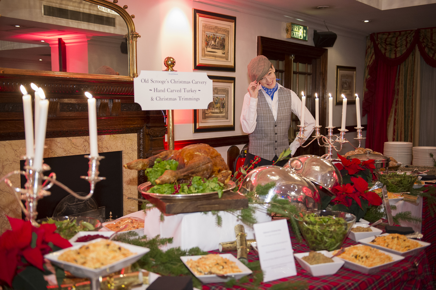 Dickensian buffet, festive party