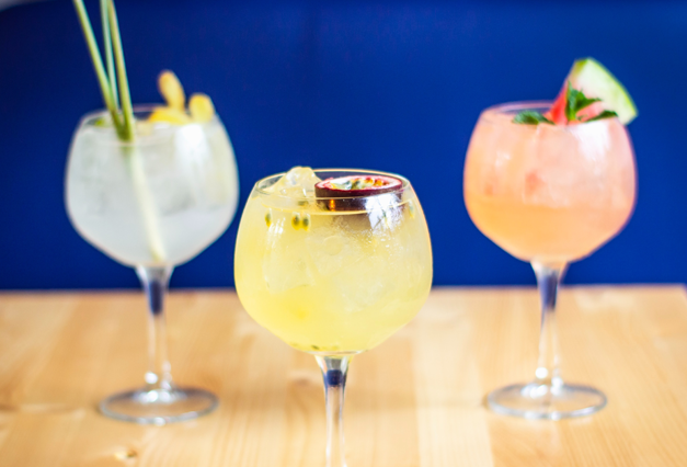 colourful gins, virtual gin making