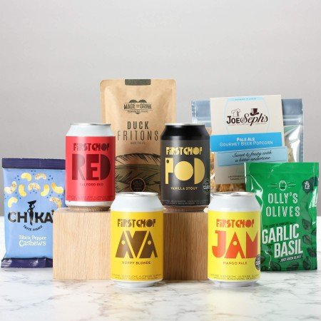 gluten free beer and gift snack box