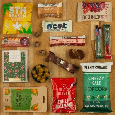 vegan snack selection