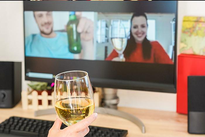 wine tasting, virtual team build